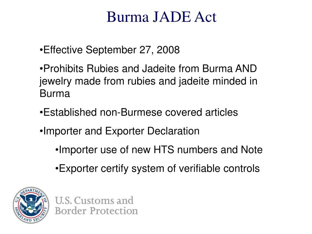 Burma JADE Act