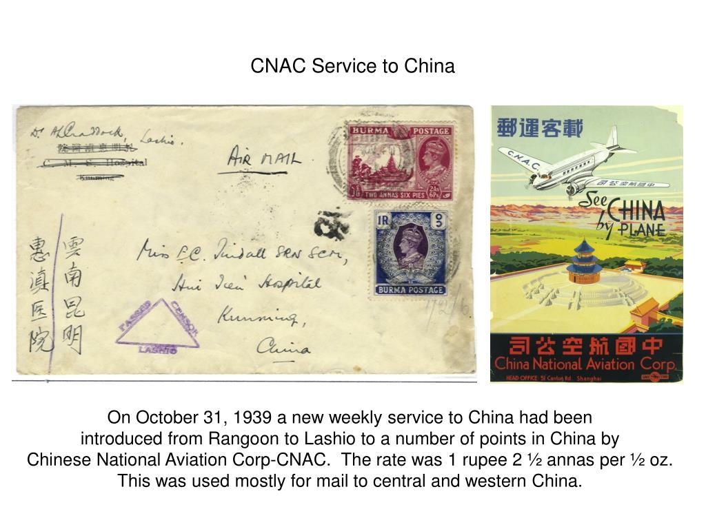 CNAC Service to China