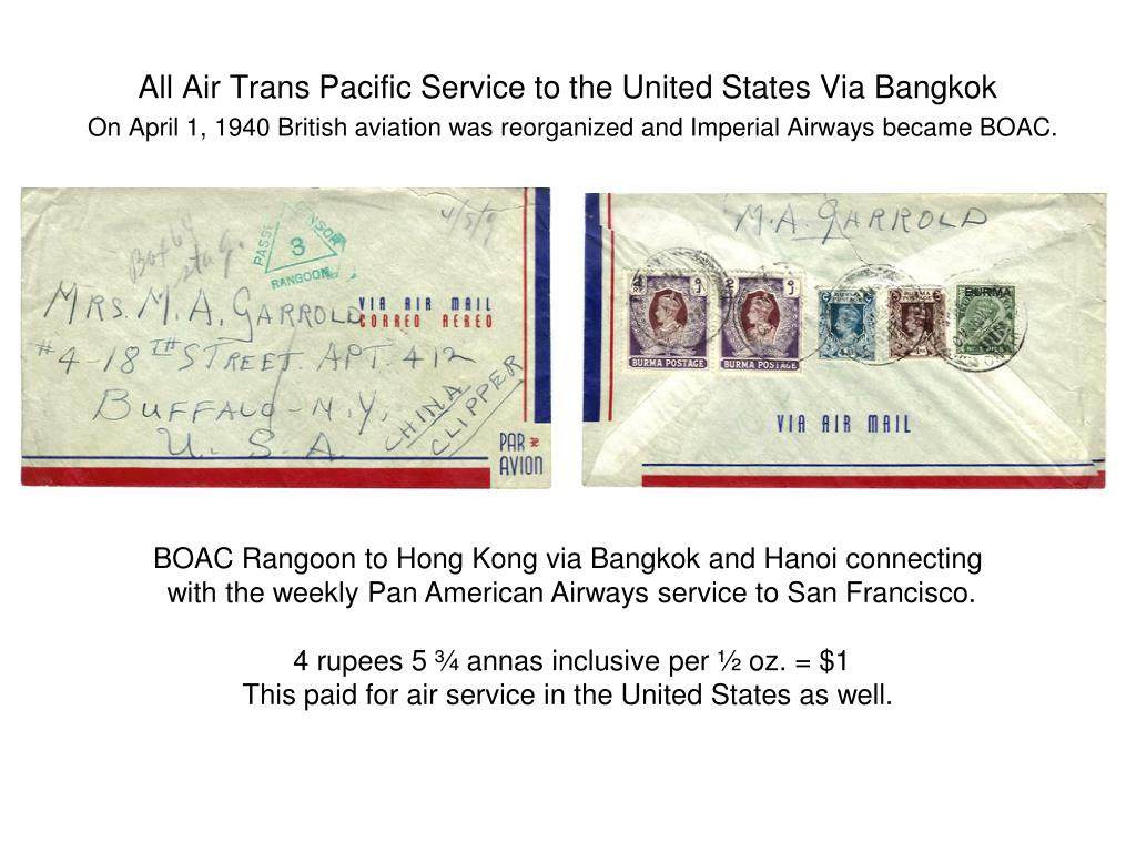 All Air Trans Pacific Service to the United States Via Bangkok