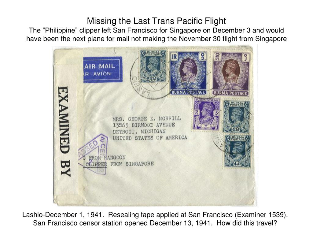 Missing the Last Trans Pacific Flight