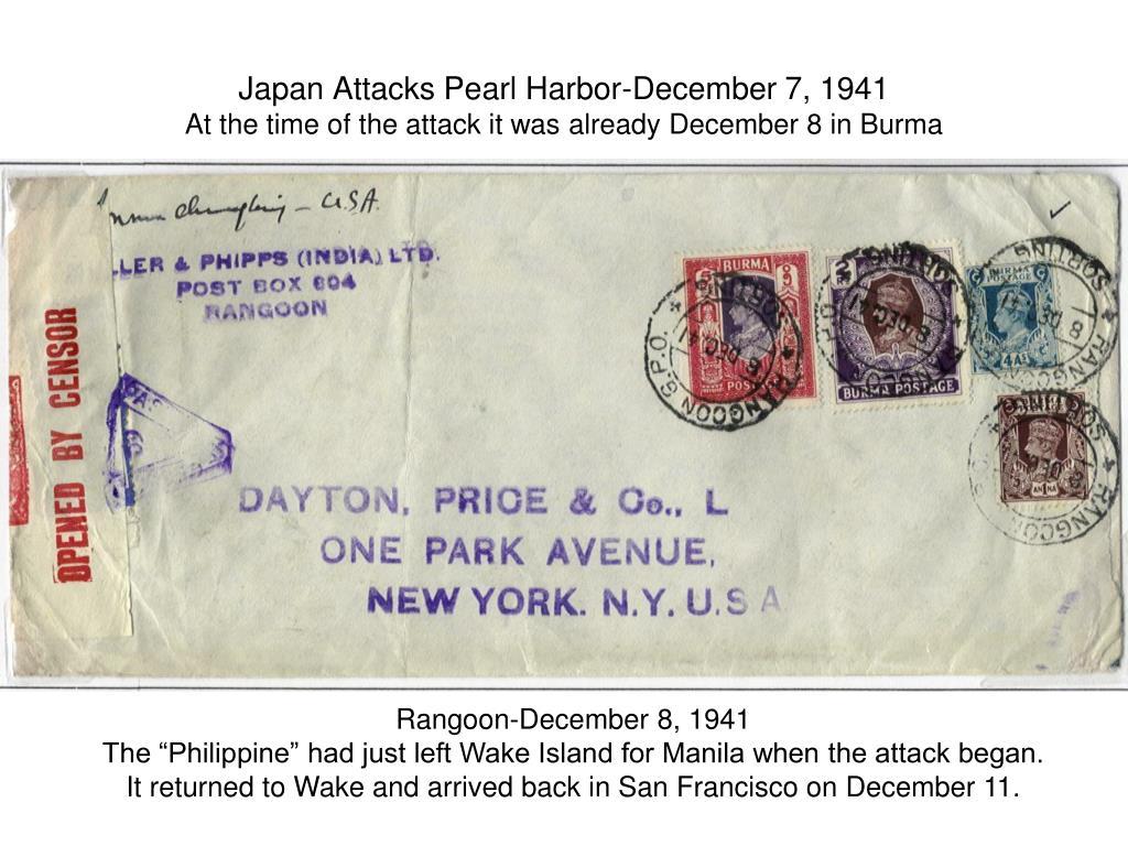 Japan Attacks Pearl Harbor-December 7, 1941
