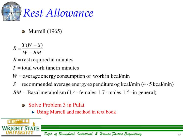 Rest Allowance