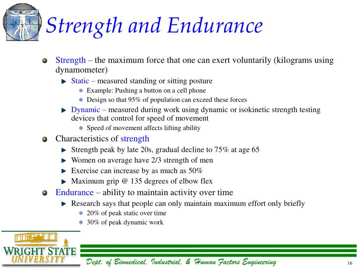 Strength and Endurance