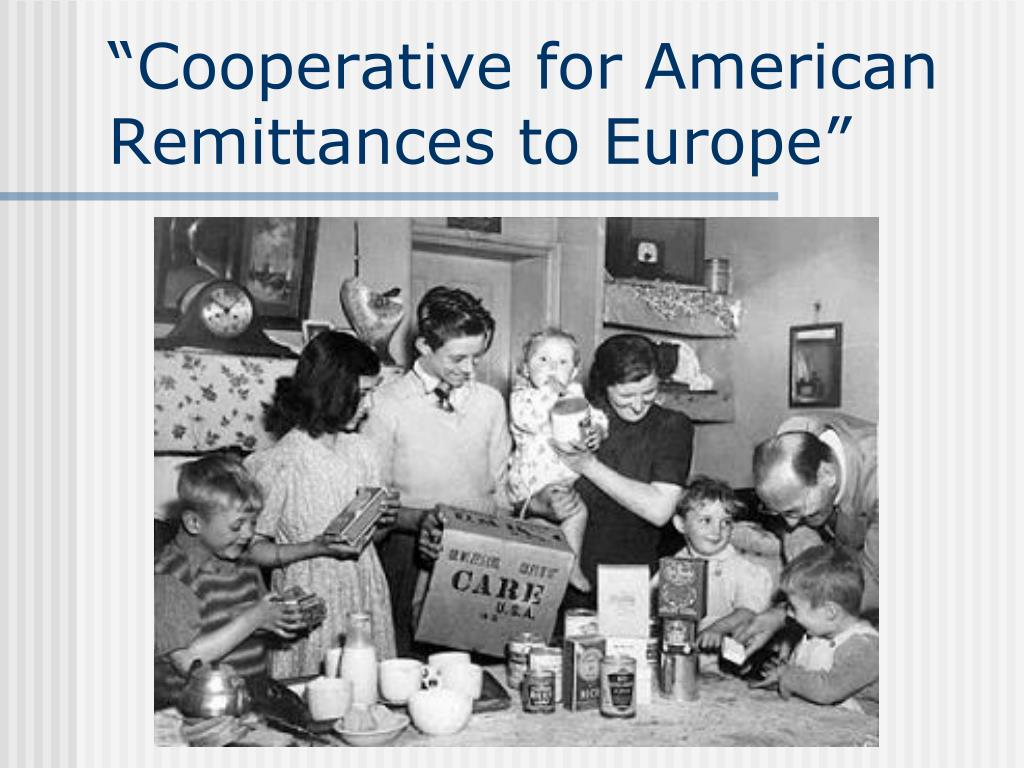 """Cooperative for American Remittances to Europe"""