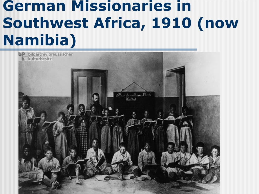 German Missionaries in Southwest Africa, 1910 (now Namibia)