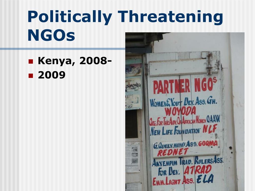 Politically Threatening NGOs
