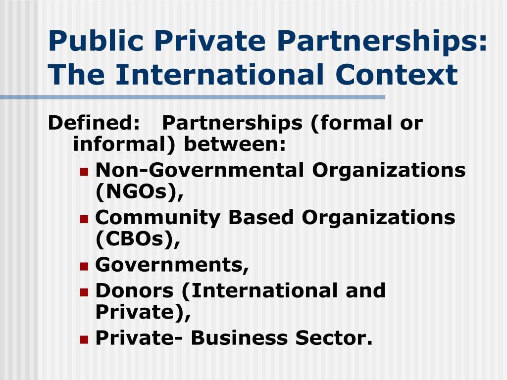 Public Private P