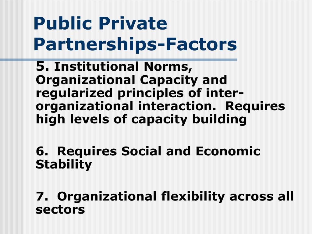 Public Private Partnerships-Factors
