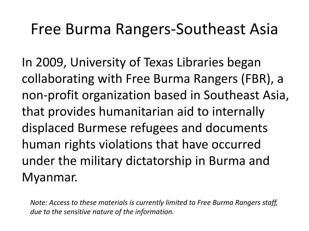 Free Burma Rangers-Southeast Asia