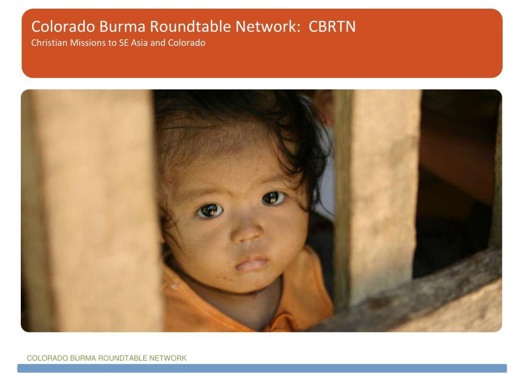 Colorado Burma Roundtable Network:  CBRTN