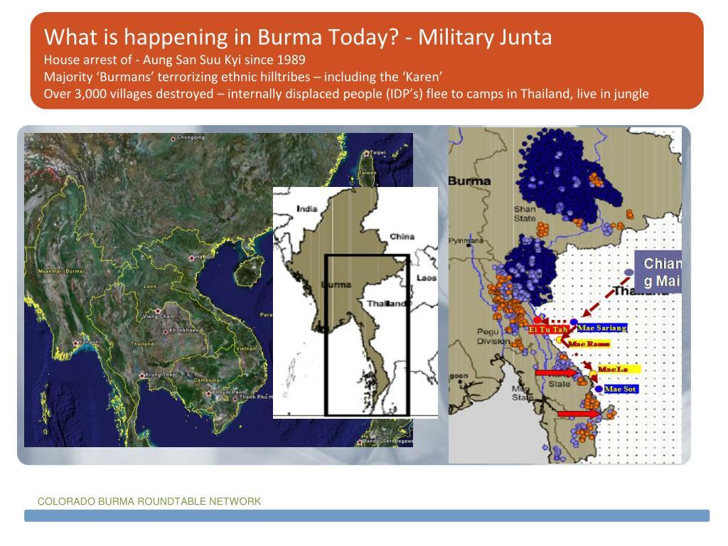 What is happening in Burma Today? - Military Junta
