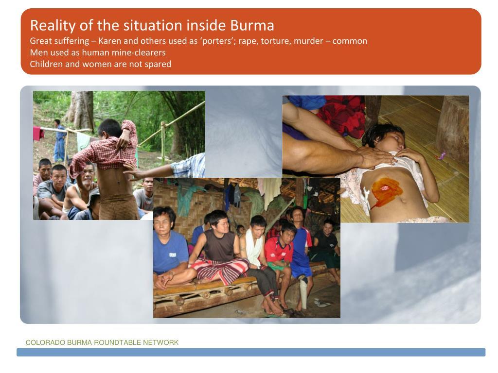 Reality of the situation inside Burma
