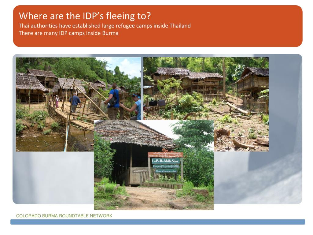 Where are the IDP's fleeing to?