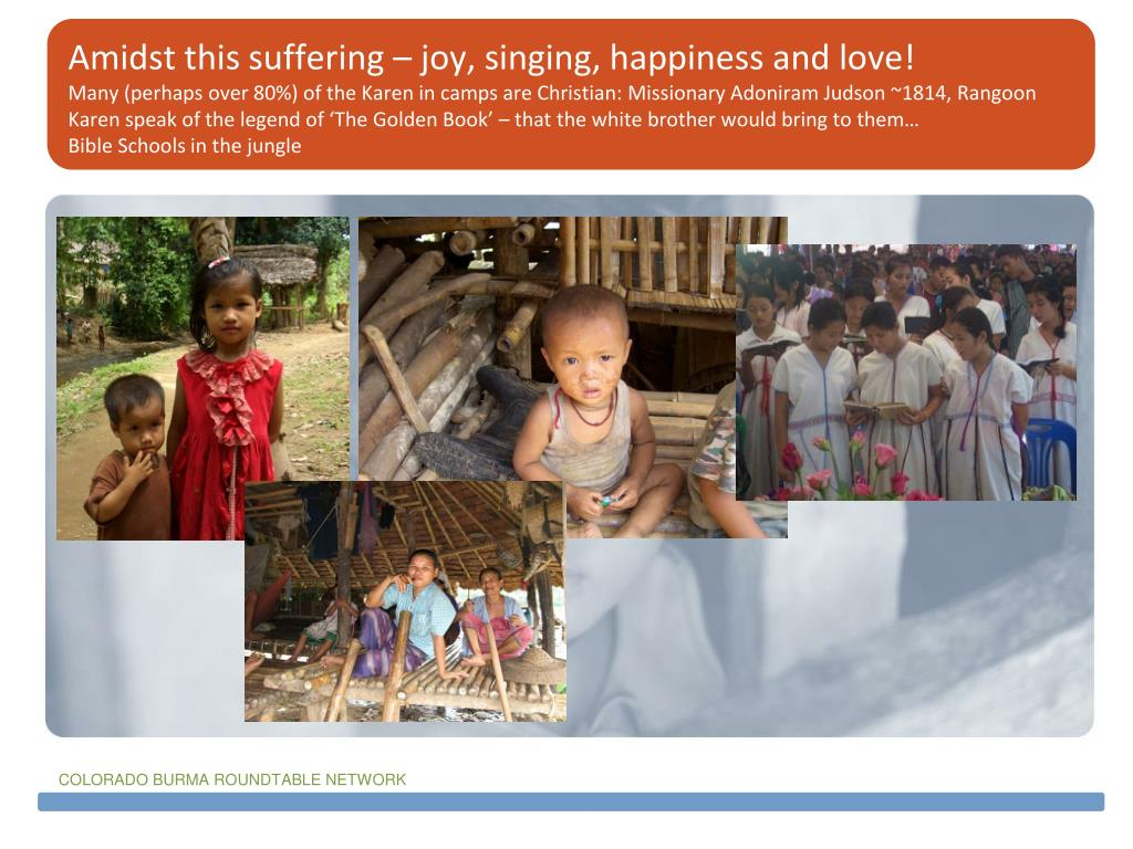 Amidst this suffering – joy, singing, happiness and love!