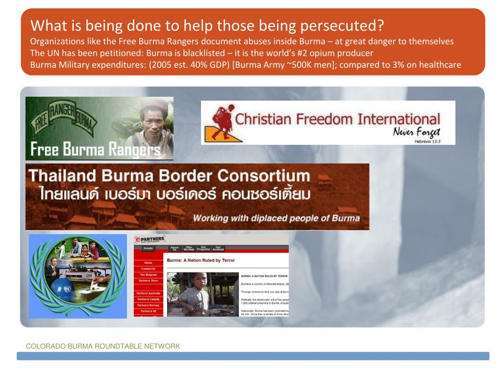 What is being done to help those being persecuted?