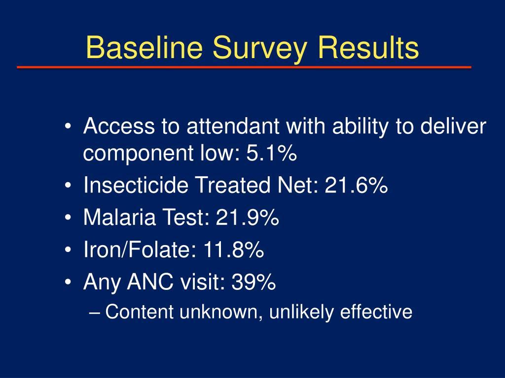 Baseline Survey Results