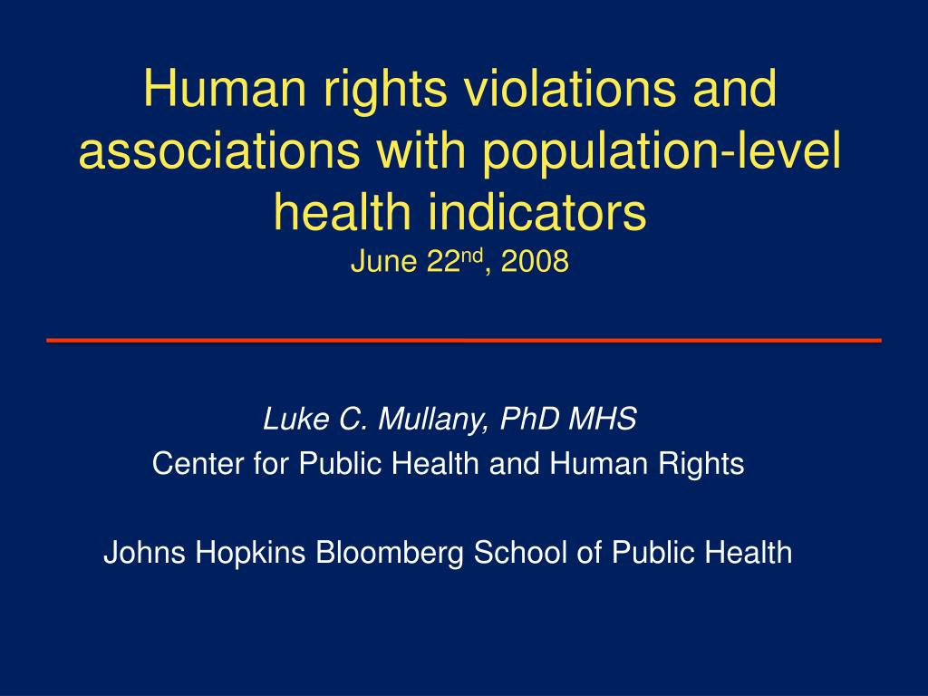Human rights violations and associations with population-level health indicators