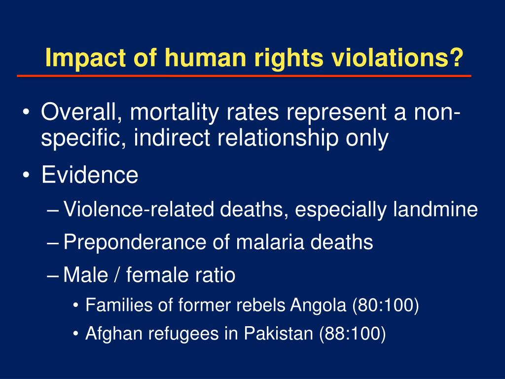 Impact of human rights violations?