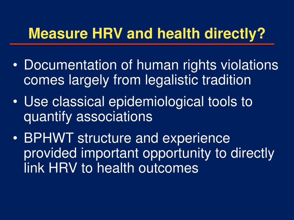 Measure HRV and health directly?