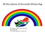 all the colours of the south african flag