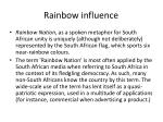 rainbow influence