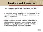 sanctions and embargoes6