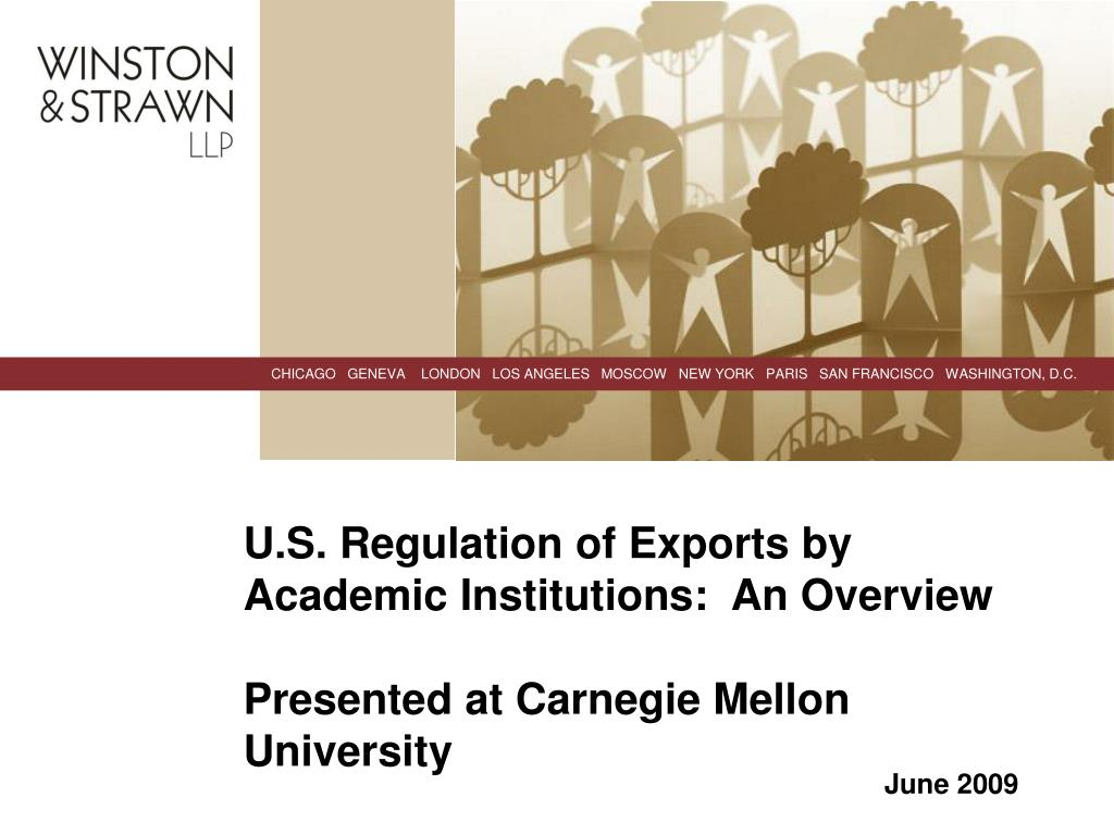 U.S. Regulation of Exports by Academic Institutions:  An Overview