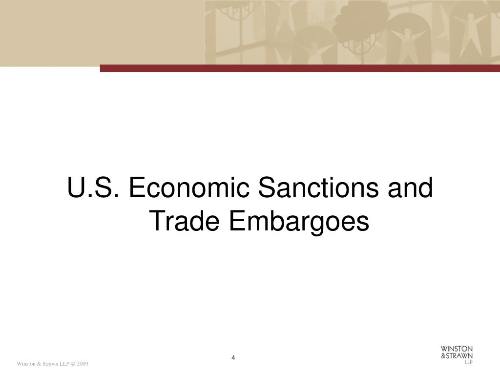 U.S. Economic Sanctions and Trade Embargoes