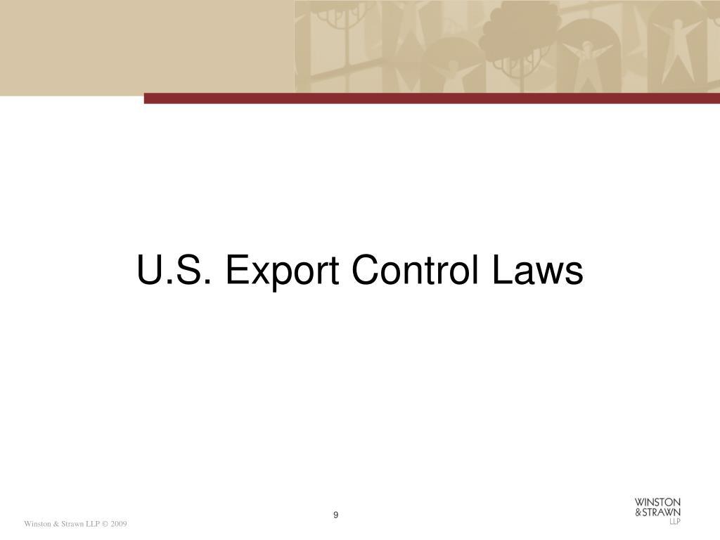U.S. Export Control Laws