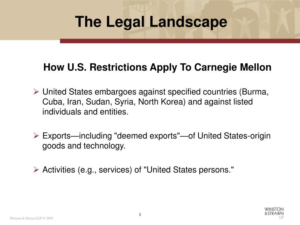 The Legal Landscape