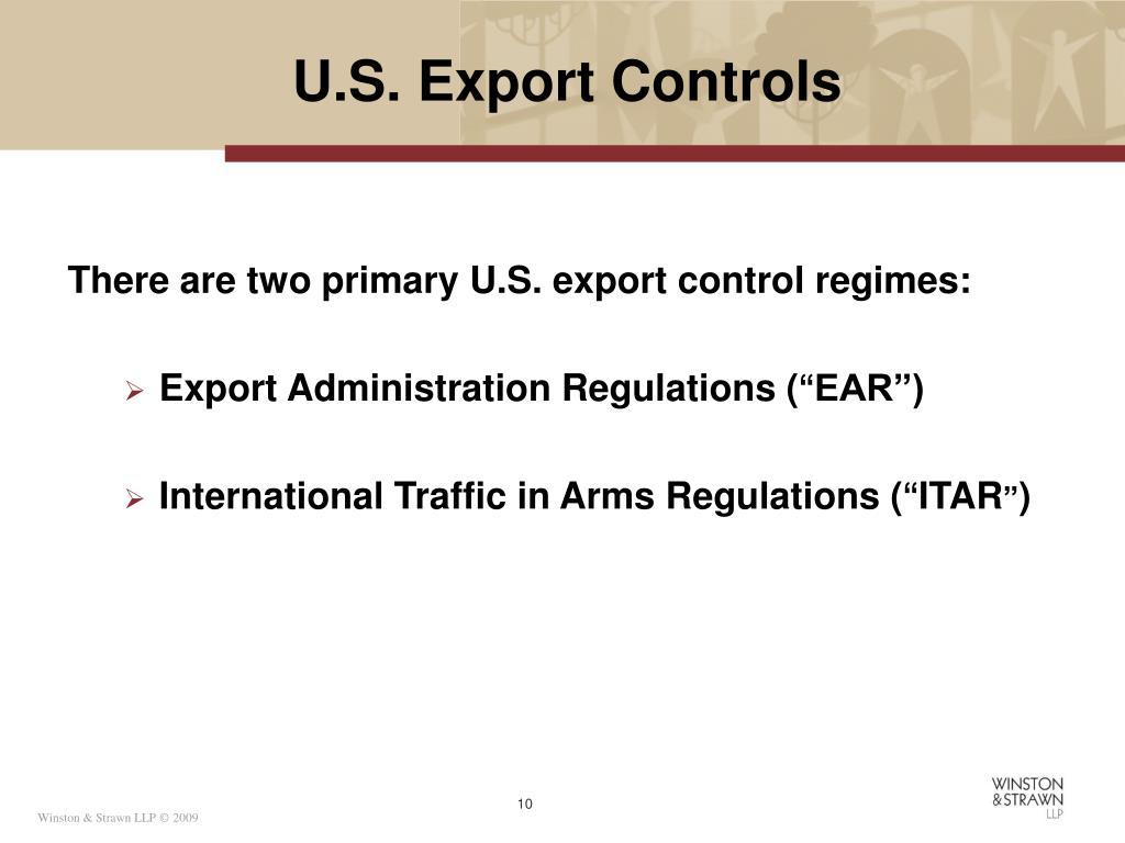 U.S. Export Controls
