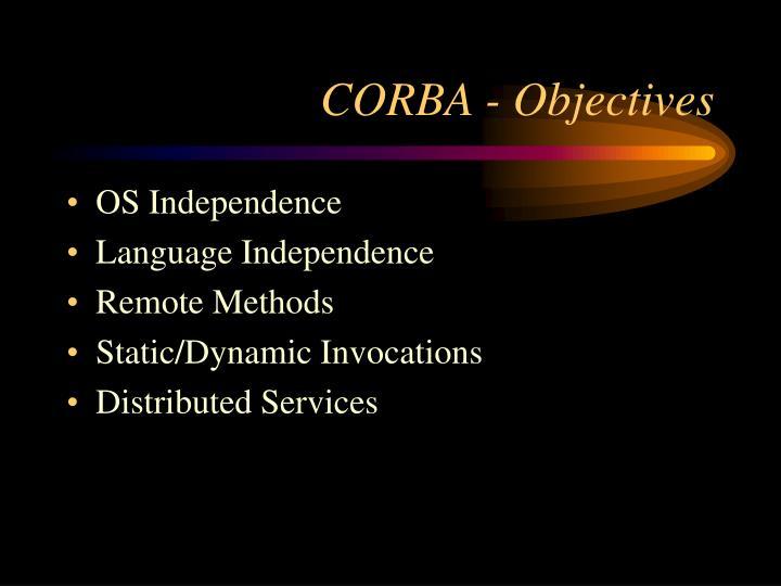 CORBA - Objectives