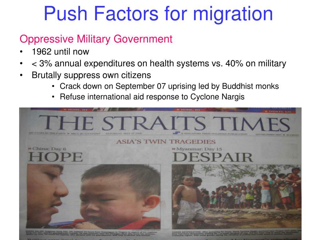Push Factors for migration