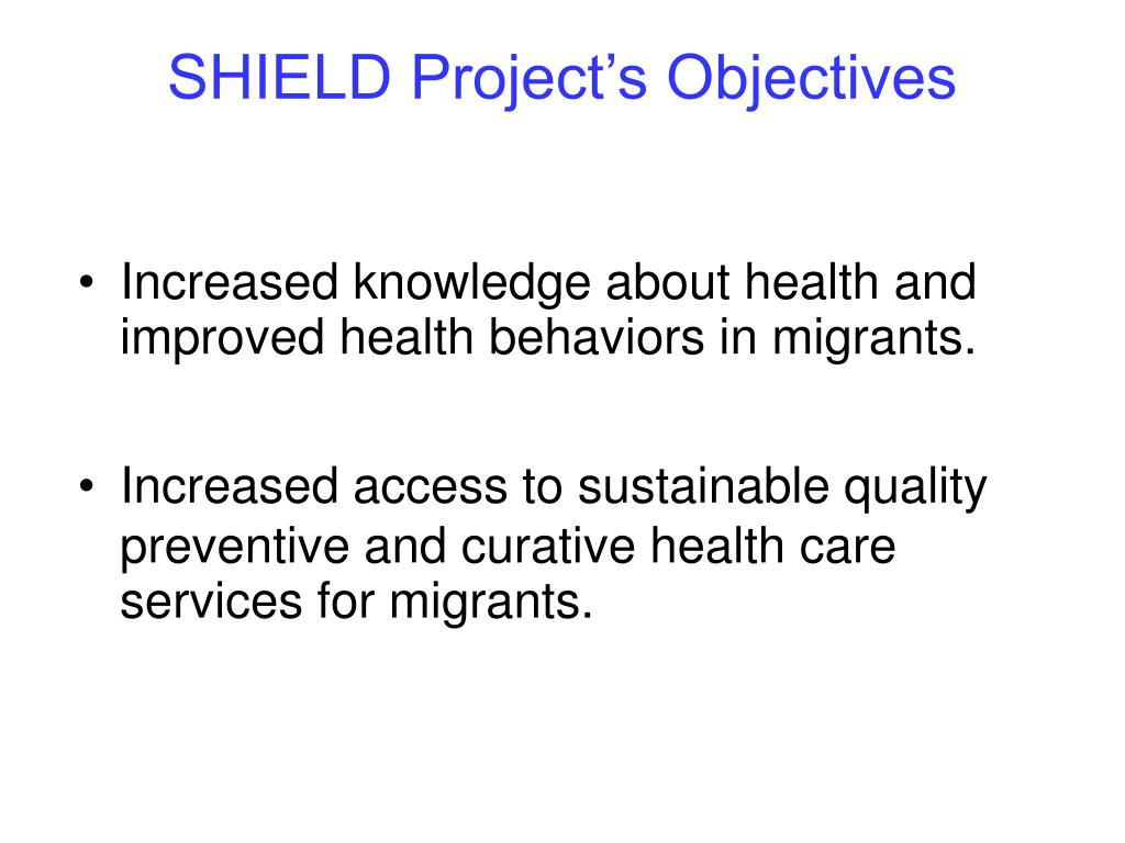 SHIELD Project's Objectives