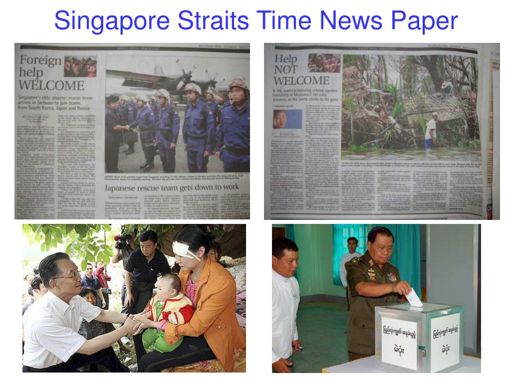Singapore Straits Time News Paper