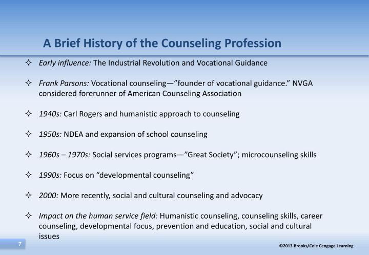 history of guidance and counselling in america Chapter 1: history & trends in counselling intro to counselling athabasca u course study play guidance  counseling and guidance  history of counseling 1980s-the american association of state counseling boards established by: ted remley in 1986.