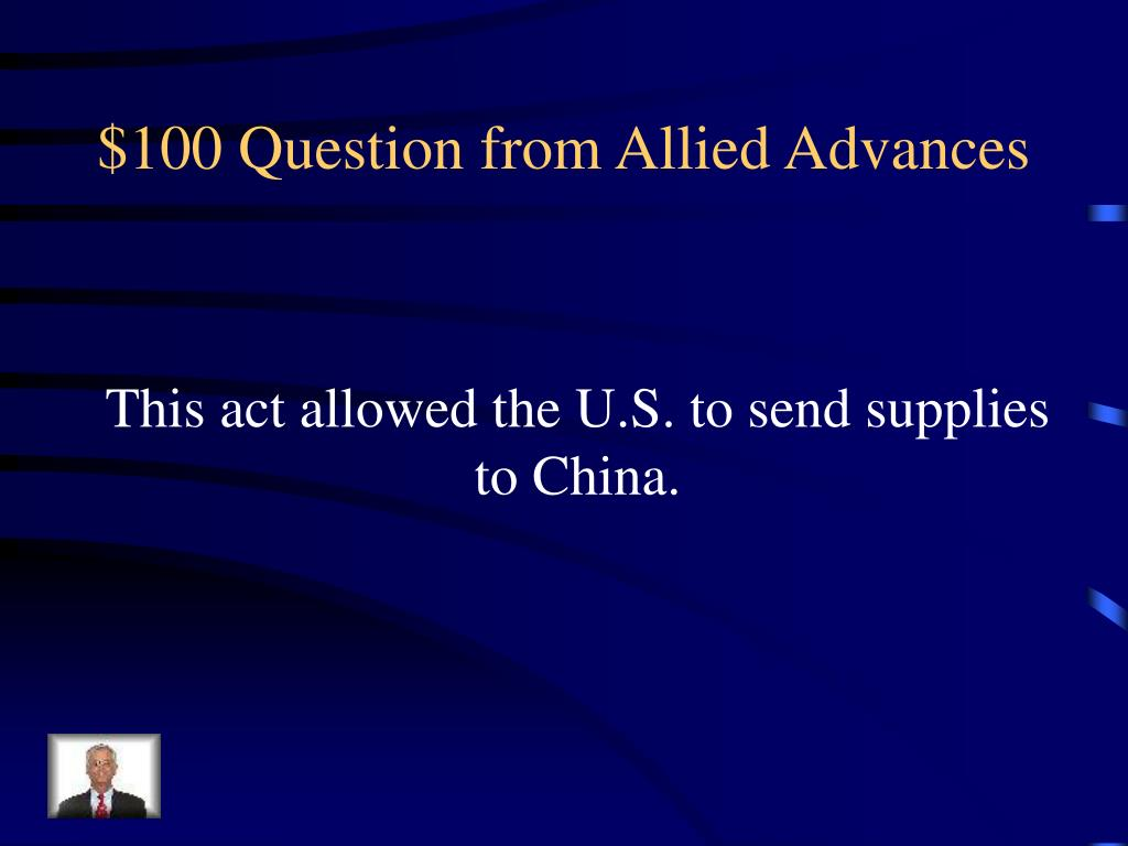 $100 Question from Allied Advances