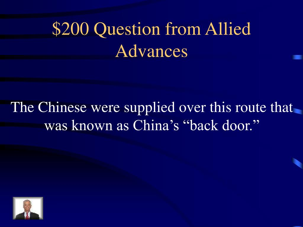 $200 Question from Allied Advances