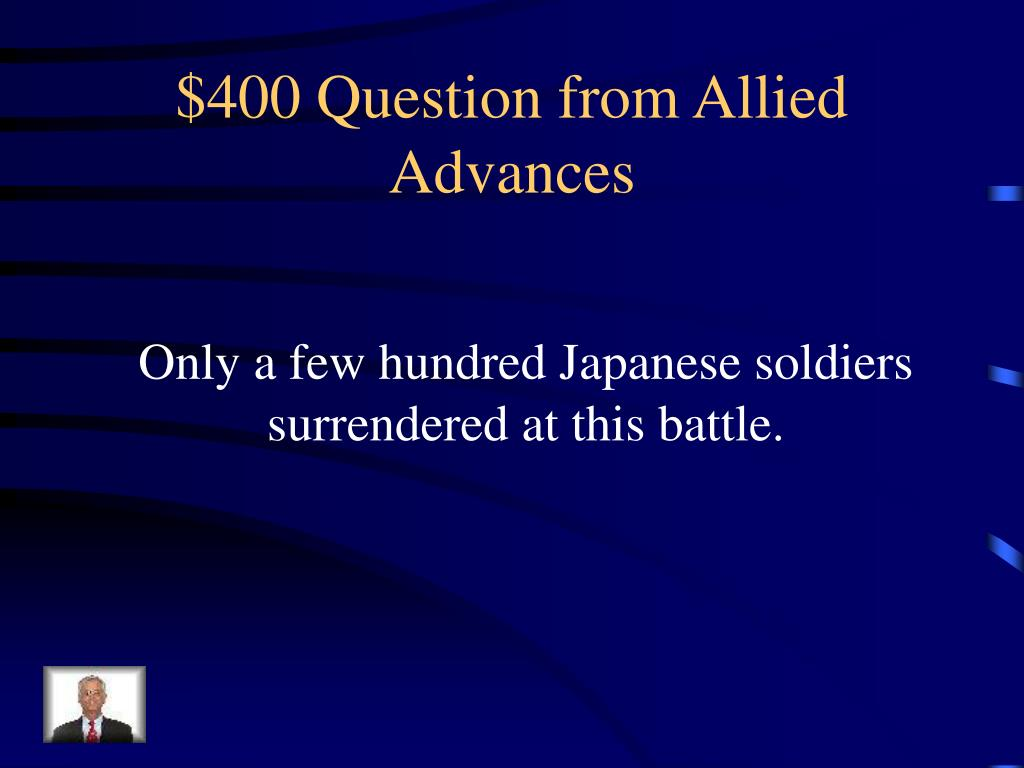 $400 Question from Allied Advances