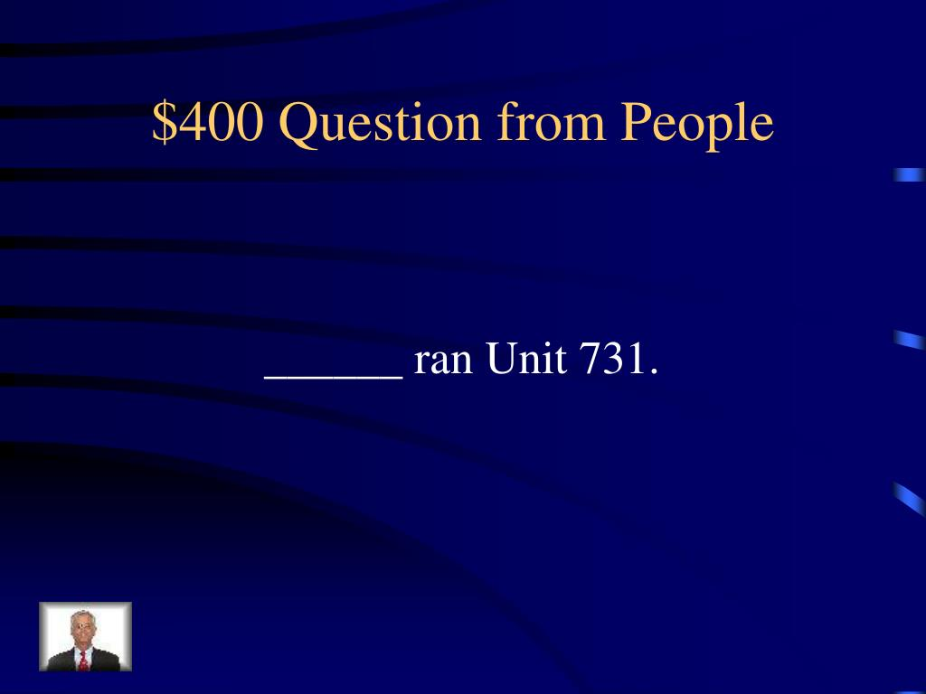 $400 Question from People