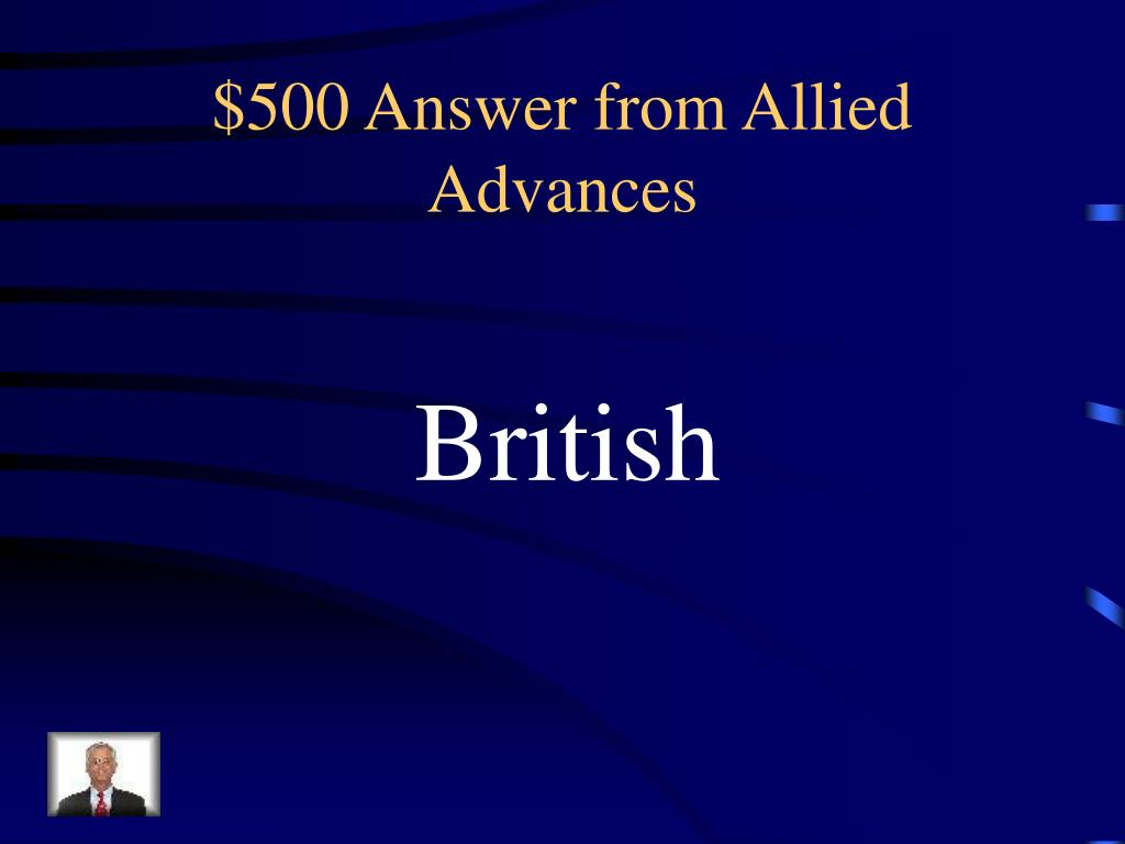 $500 Answer from Allied Advances