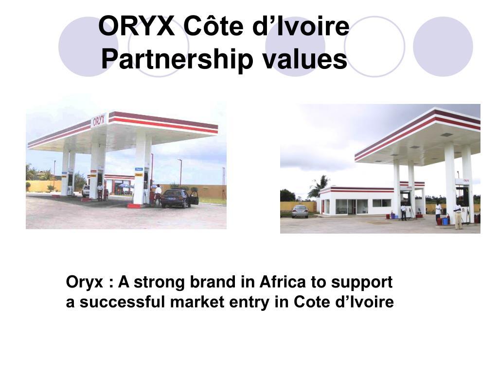 ORYX Côte d'Ivoire