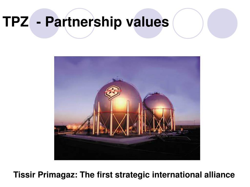 TPZ  - Partnership values