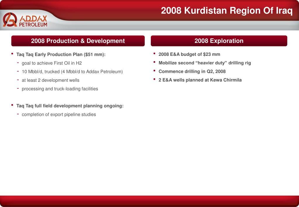 2008 Kurdistan Region Of Iraq