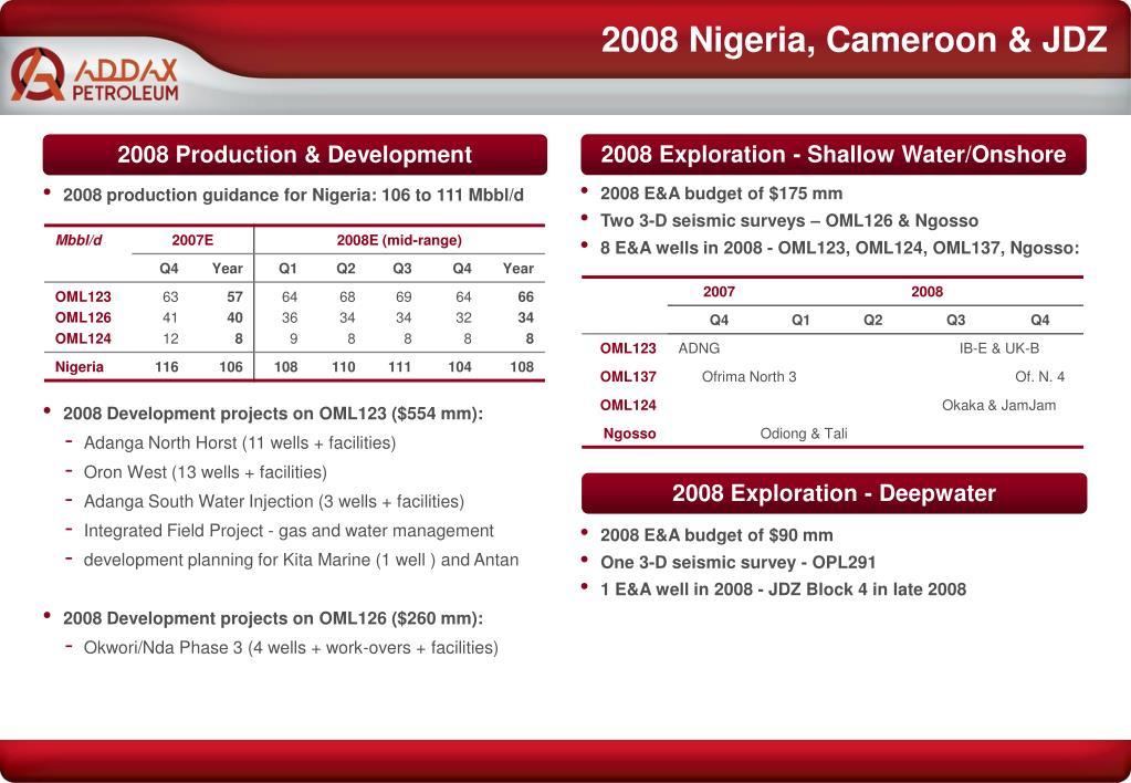 2008 Nigeria, Cameroon & JDZ