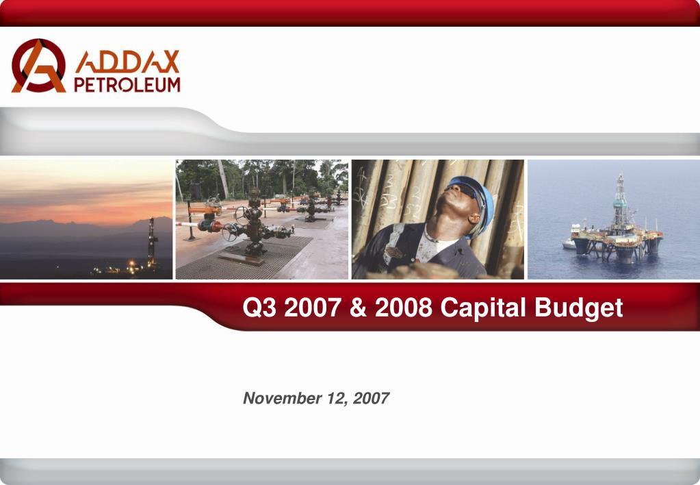 q3 2007 2008 capital budget