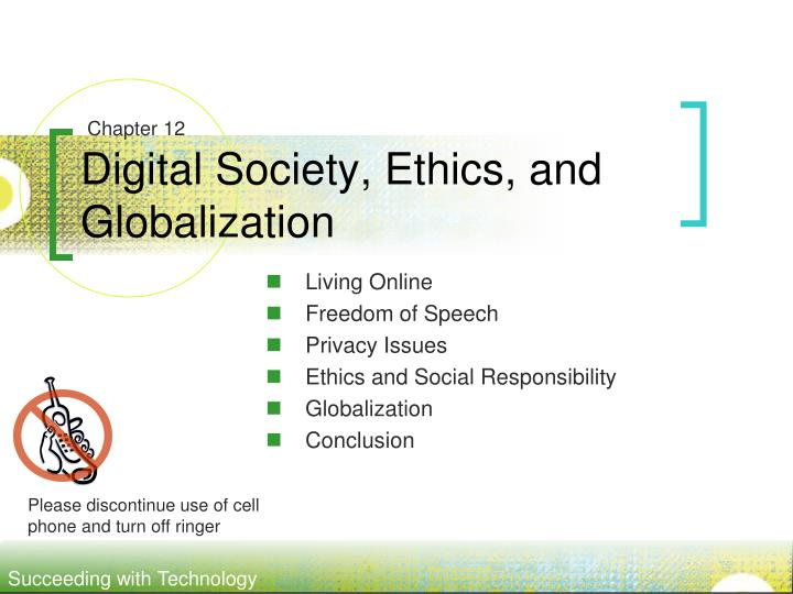 Digital society ethics and globalization