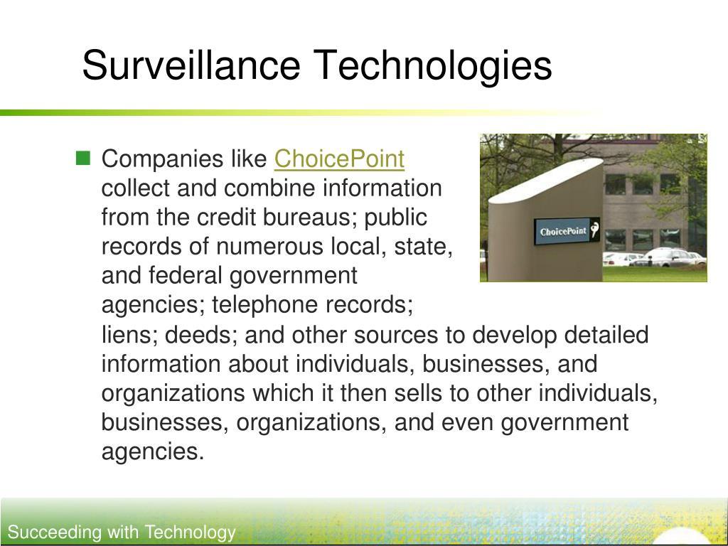 Surveillance Technologies
