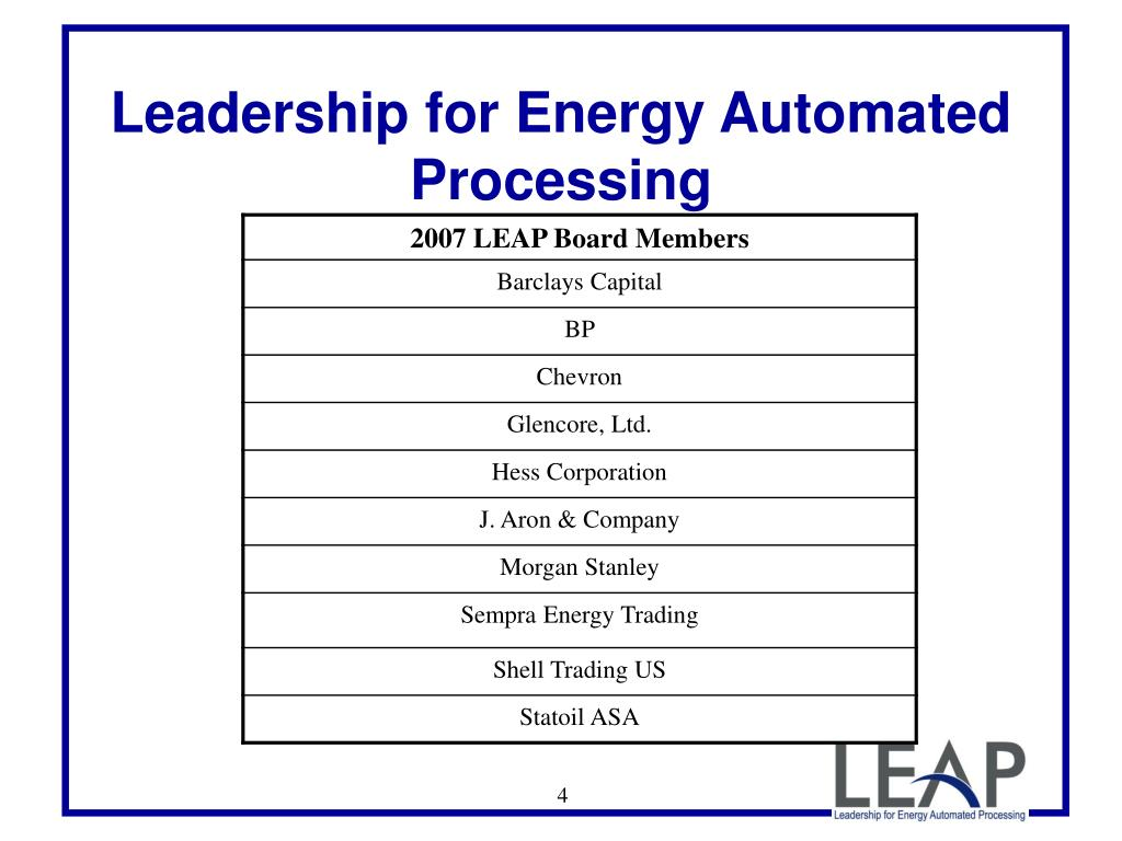 Leadership for Energy Automated Processing