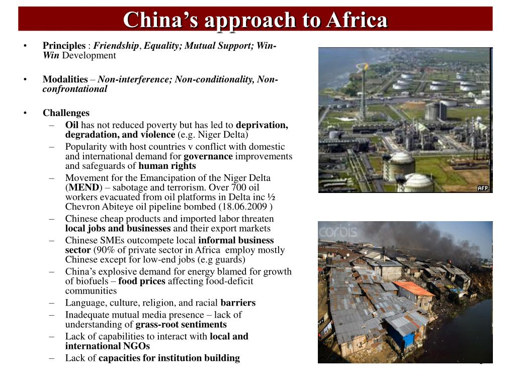 China's approach to Africa